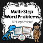 Multi-Step Word Problems: All 4 Operations
