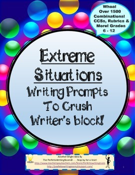 """900-Situations"" Writing Flashcards to Cure Writer's Block!"