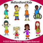 Multicultural Kids Clip Art by Jeanette Baker