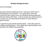 Multiple Intelligences-Learning Styles Quiz