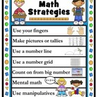 Multiple Math Strategies Worksheets with Poster- Common Co