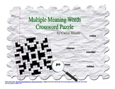 Multiple Meaning Words Crossword Puzzle