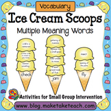 Multiple Meaning Words- Ice Cream Scoop