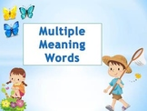 Multiple Meaning Words Powerpoint for Elementary Students