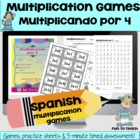 Multiplicando Por 4 - Spanish Multiplication Math Games/Le