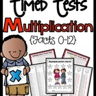 Multiplication 1 Minute Timed Tests For Facts 1-12