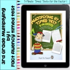 Multiplication 5-Minute Timed Test - Multiplying by 1 and
