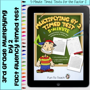Multiplication 5-Minute Timed Test - Multiplying by 2 and