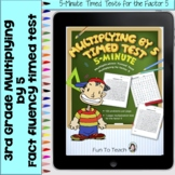 Multiplication 5-Minute Timed Test - Multiplying by 5 and