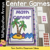 Multiplication Arrays Beach Themed Go Fish, Old Maid, Conc
