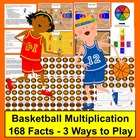 Multiplication Basketball Math Centers- 3 Ways To Play - 1