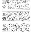 Multiplication Bookmarks Coloring Pages Two Through Ten Ma