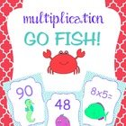 Multiplication Card Games- Go Fish! Memory! War!