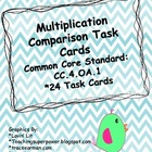 Multiplication Comparison Common Core Task Cards
