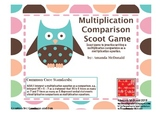 Multiplication Comparison Scoot Game