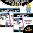 Multiplication & Division File Folder Games Bundled Set (2