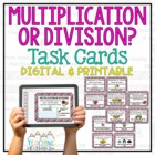Multiplication Division Task Cards for Differentiated, Com