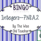 Multiplication & Division of Integers Bingo PPT with Blank