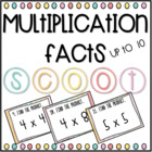 Multiplication Facts (0-10) SCOOT! (review game/task cards)