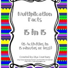 Multiplication Facts - 15 Activities in 15 Minutes  (Times