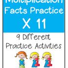 Multiplication Facts X11 Practice Activities