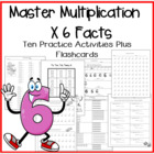 Multiplication Facts X6 Practice Activities