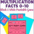 Multiplication Facts to 10- Left Right Learn