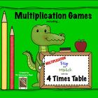 Multiplication Flip & Match Games with the 4 Times Table