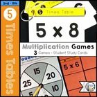 Multiplication Flip & Match Games with the 5 Times Table