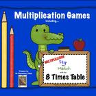 Multiplication Flip & Match Games with the 8 Times Table