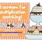 Multiplication Ice Cream Matching