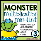 Multiplication Intro with Monsters Mini-Unit