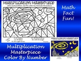 Multiplication Masterpiece-Starry Night Color By Number Fun!