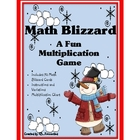 Multiplication Math Blizzard