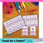 Multiplication Memory Game and Flash Cards {Cupcake}