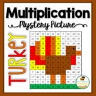 Multiplication Mystery Picture -Turkey - Thanksgiving Math