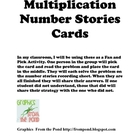 Multiplication Number Story cards