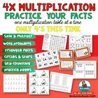 Multiplication Practice - 4 Table- Times 4- Practice Worksheets
