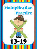 Multiplication Practice Book (13, 14, 15, 16, 17, 18, 19)