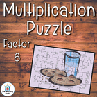 Multiplication Puzzle for Factor 6 ~ Common Core Aligned!