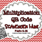 Multiplication QR Code Scavenger Hunt Facts 2-12