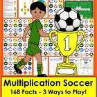 Multiplication Soccer Math Centers- 3 Ways To Play - Commo