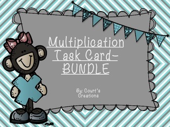 Multiplication Task Card-BUNDLE