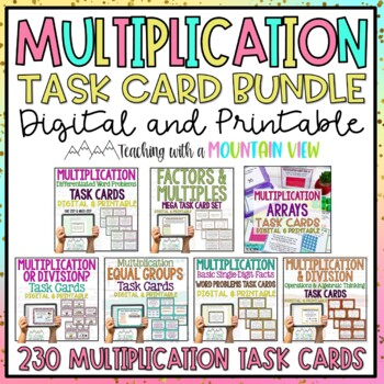 Multiplication Task Card Bundle *196 Differentiated Task Cards!* Common Core