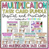 Multiplication Task Card Bundle *228 Differentiated Task C