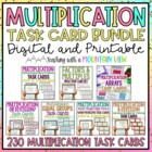 Multiplication Task Card Bundle *196 Differentiated Task C