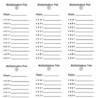 Multiplication Test- 1-10