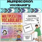 Multiplication Vocabulary Trading Cards Math Activities &