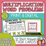 Multiplication Word Problem Task Cards: 32 Multi-Digit Mat