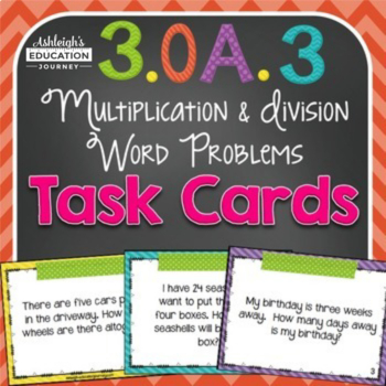 Multiplication Word Problems for Work Stations